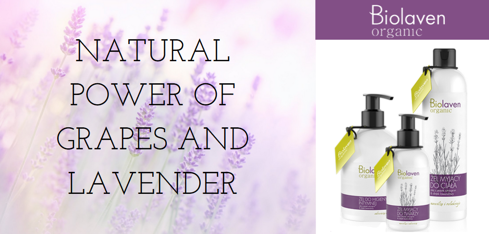 TRY NATURAL COSMETICS MADE FROM GRAPES AND LAVENDER! BIOLAVEN ORGANIC IN HERBIO.CO.UK!
