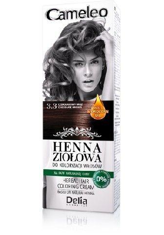 Delia - Cameleo Herbal Henna - Herbal hair coloring cream 3.3 CHOCOLATE  BROWN 75g 5901350449257