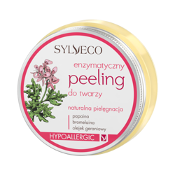 Sylveco - Hypoallergenic SMOOTHING face SCRUB with sunflower oil for dry, tired skin (ENZYMATYCZNY PEELING do twarzy z papainą) 75ml 7348
